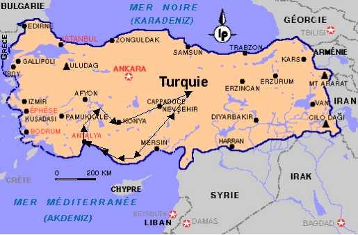 Géographie la turquie partage ses frontières avec la georgie l